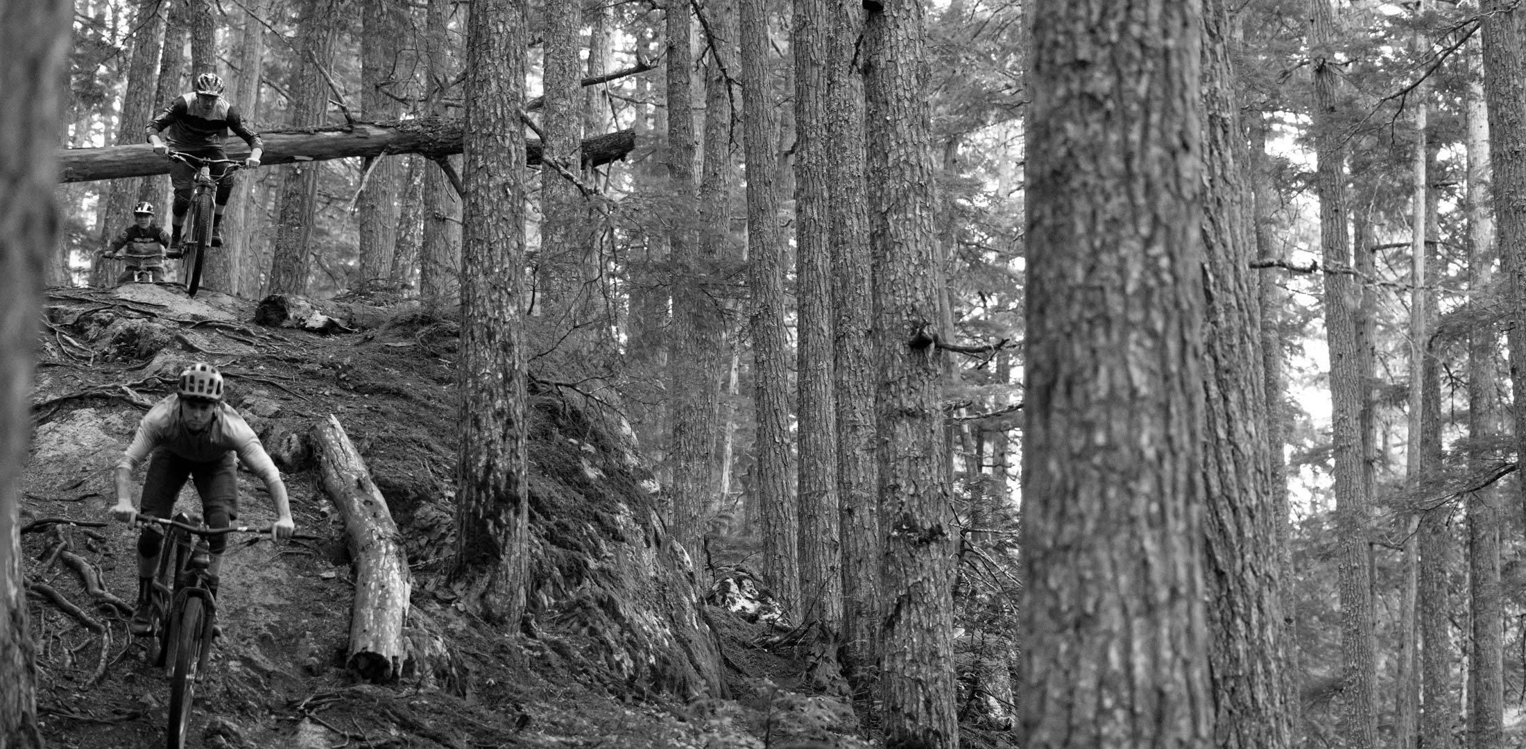 Evil Offering Actionfoto in schwaz weiß im Wald