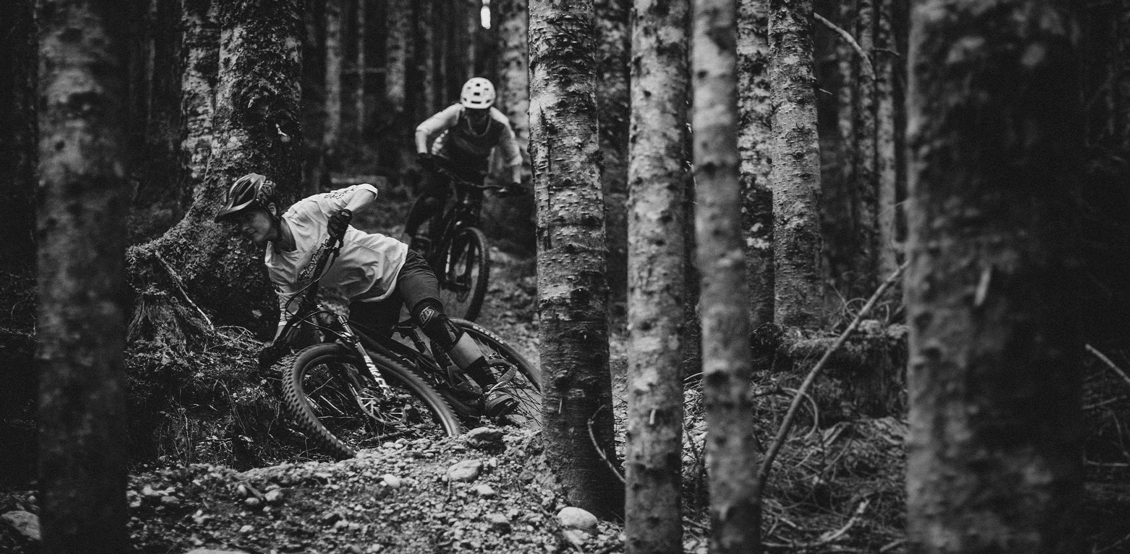 Evil Offering 2021 riding in forest black white